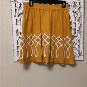 Anthropologie Girls of Savoy A-line skirt